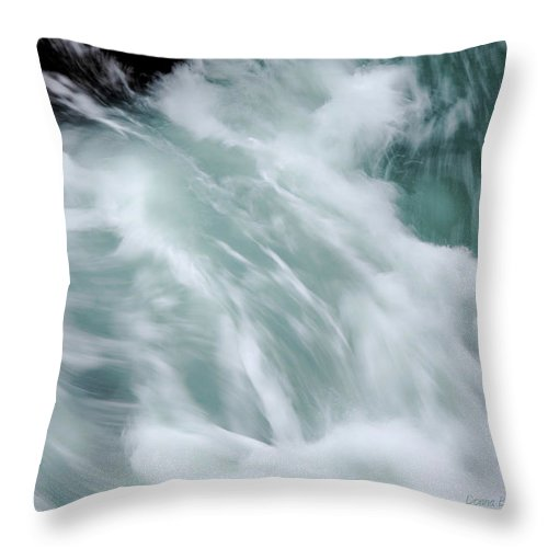 Sea Throw Pillow featuring the photograph Turbulent Seas by Donna Blackhall