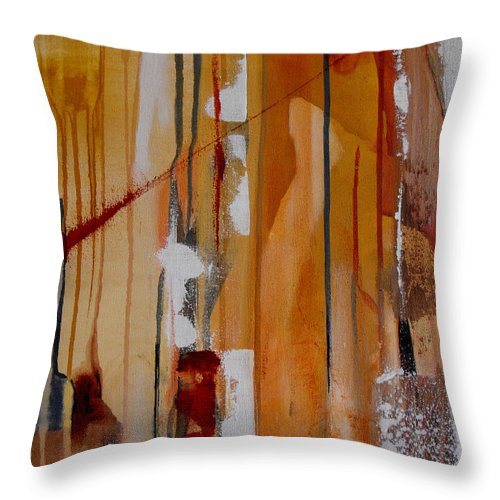 Abstract Throw Pillow featuring the painting Turbulent Times by Ruth Palmer