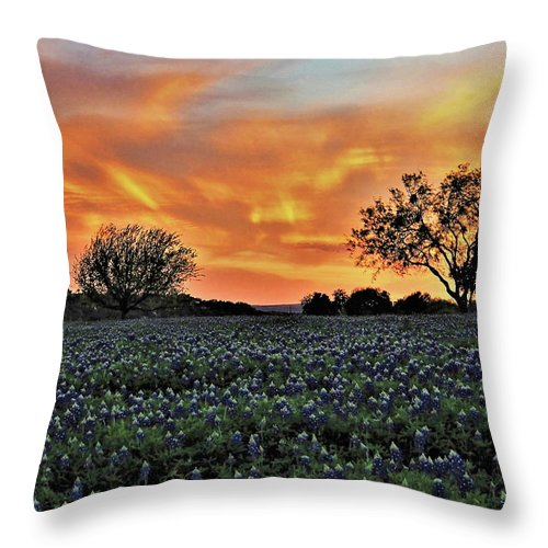 Sunset Throw Pillow featuring the photograph Turkey Bend Sunset by Jerry Connally