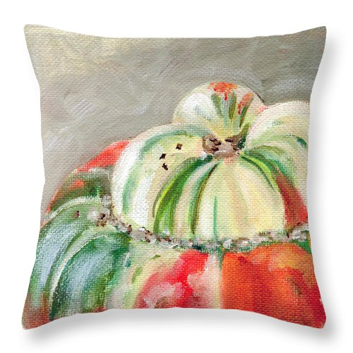 Still-life Throw Pillow featuring the painting Turks Turban by Sarah Lynch
