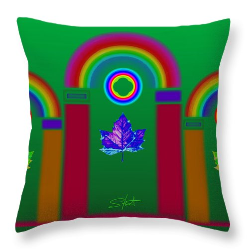 Classical Throw Pillow featuring the painting Tuscan Equinox by Charles Stuart