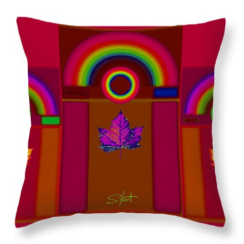 Classical Throw Pillow featuring the digital art Tuscan Fall by Charles Stuart