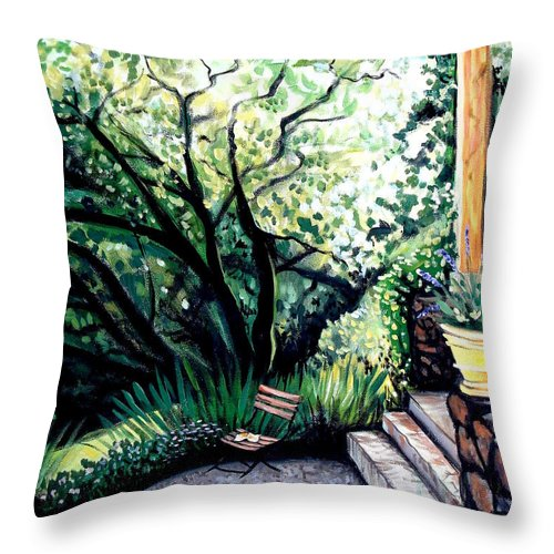 Tuscany Throw Pillow featuring the painting Tuscan Gold by Elizabeth Robinette Tyndall