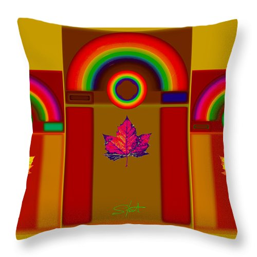 Classical Throw Pillow featuring the digital art Tuscan Harvest by Charles Stuart
