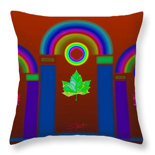 Classical Throw Pillow featuring the painting Tuscan Heat by Charles Stuart
