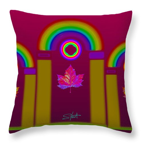 Classical Throw Pillow featuring the painting Tuscan Magenta by Charles Stuart