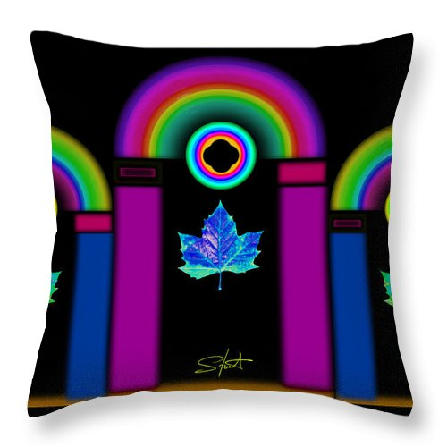 Classical Throw Pillow featuring the painting Tuscan Neon by Charles Stuart