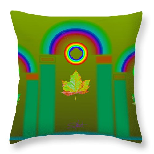 Classical Throw Pillow featuring the digital art Tuscan Olive by Charles Stuart