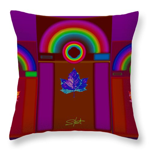 Classical Throw Pillow featuring the digital art Tuscan Pink by Charles Stuart