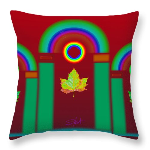Classical Throw Pillow featuring the digital art Tuscan Red by Charles Stuart