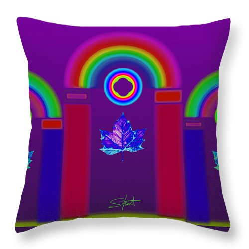 Classical Throw Pillow featuring the painting Tuscan Violet by Charles Stuart