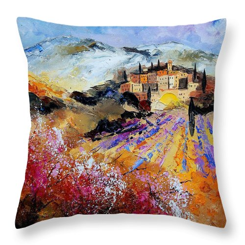 Provence Throw Pillow featuring the painting Tuscany 56 by Pol Ledent