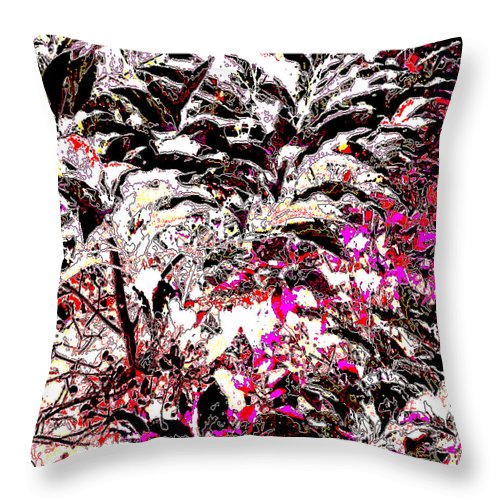 Square Throw Pillow featuring the digital art Twali Pashan by Eikoni Images