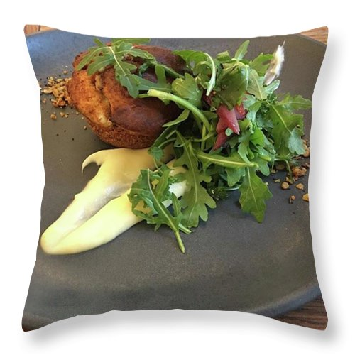 Throw Pillow featuring the photograph Twice Baked Binham Blue Cheese & Walnut by John Edwards