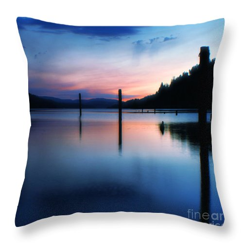 Dusk Throw Pillow featuring the photograph Twilight by Idaho Scenic Images Linda Lantzy