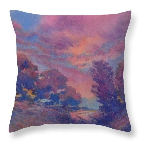 Landscape Throw Pillow featuring the painting Twilight Time, No. 2 by Virgil Carter