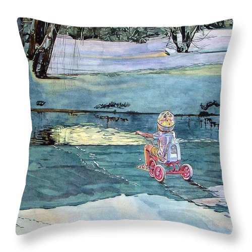 Children Throw Pillow featuring the painting Twilight by Valerie Patterson
