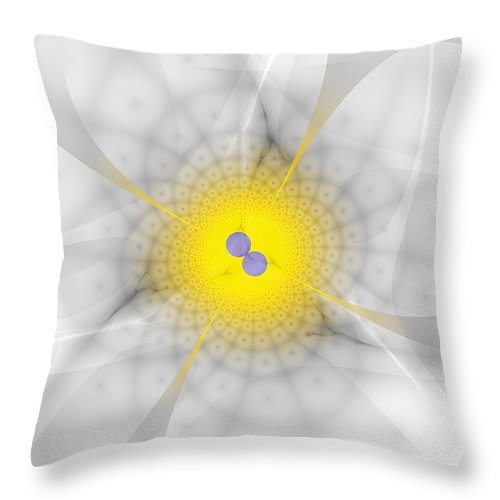 Fractal Throw Pillow featuring the digital art Twirls by Frederic Durville
