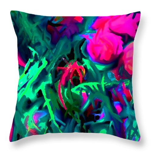 Abstract Throw Pillow featuring the digital art Twisted by Ian MacDonald