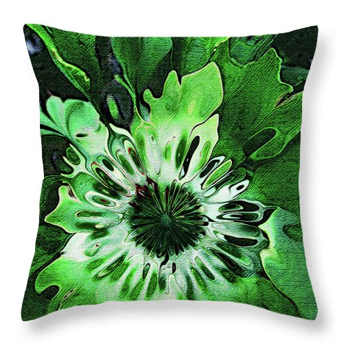 Leaves Throw Pillow featuring the digital art Twisted Leaves by Joan Minchak