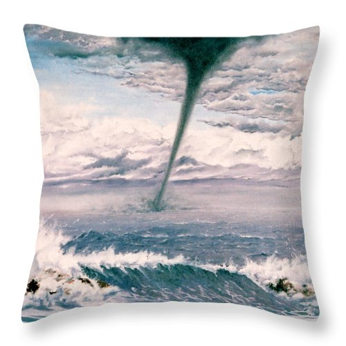 Seascape Throw Pillow featuring the painting Twisted Nature by Mark Cawood