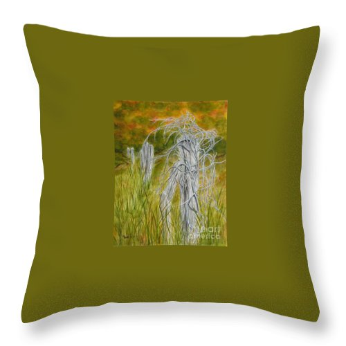 Landscape Throw Pillow featuring the painting Twisted by Regan J Smith