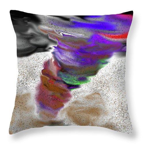 Twister Throw Pillow featuring the painting Twister by Methune Hively