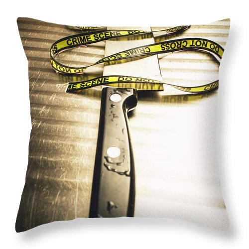 Murder Throw Pillow featuring the photograph Twists And Turns Of A Serial Killer by Jorgo Photography - Wall Art Gallery