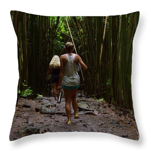 Hana Throw Pillow featuring the photograph Two Explorers by RJ Bridges