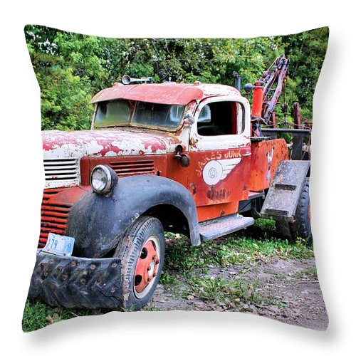 Old Truck Throw Pillow featuring the photograph Two for One by Kristin Elmquist