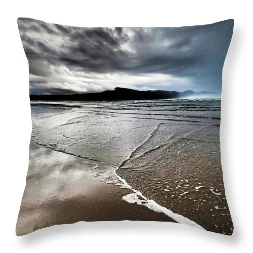 Beach Throw Pillow featuring the photograph Two Skies by Stephanie McGuire