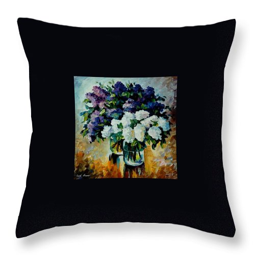 Painting Throw Pillow featuring the painting Two Spring Colors by Leonid Afremov