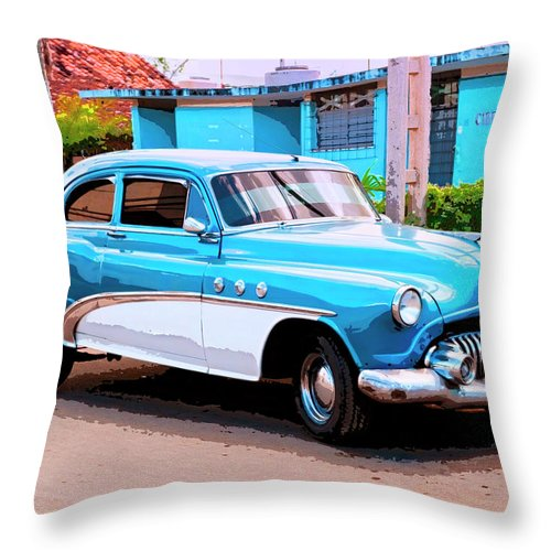 Two Tone Throw Pillow featuring the mixed media Two Tone by Dominic Piperata