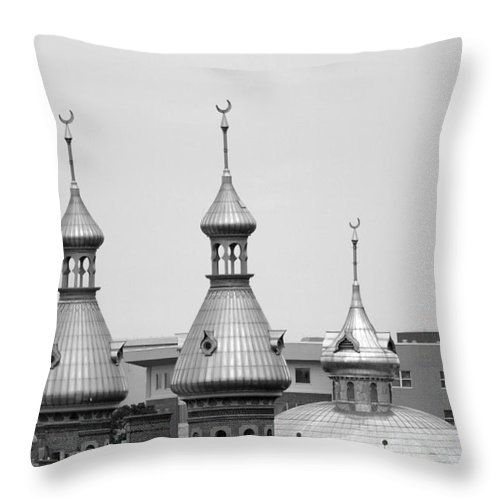 Dome Throw Pillow featuring the photograph U T Domes by Robert Wilder Jr