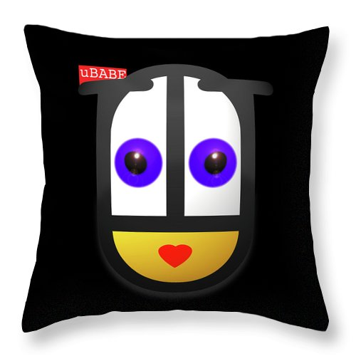 Ubabe Throw Pillow featuring the painting uBABE In The Night by Charles Stuart