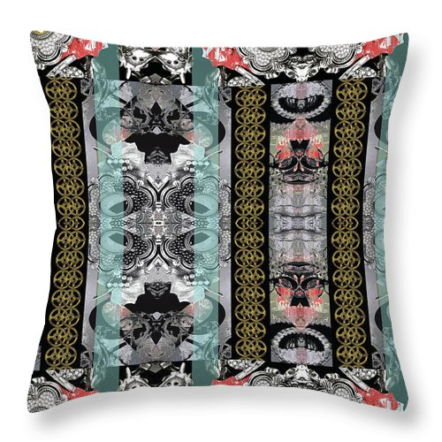 Jewelry Throw Pillow featuring the digital art UES by Ceil Diskin