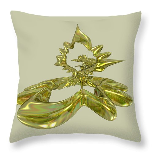 Fractal Throw Pillow featuring the digital art UFO by Frederic Durville