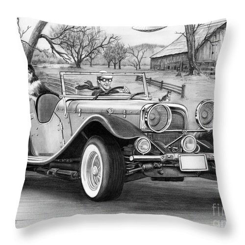 Pencil Throw Pillow featuring the drawing UFO by Murphy Elliott
