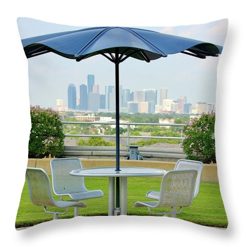 Skyline Throw Pillow featuring the photograph Umbrella by Lorna Maza