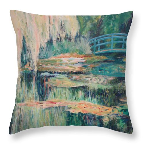Impressionism Throw Pillow featuring the painting Unassuming Grace by Tara Moorman