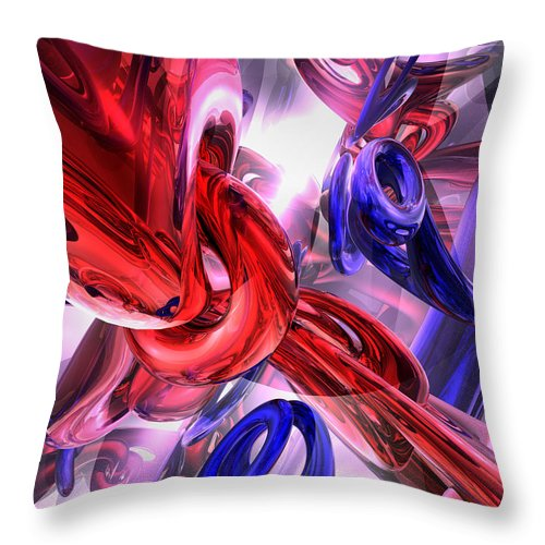 3d Throw Pillow featuring the digital art Unchained Abstract by Alexander Butler