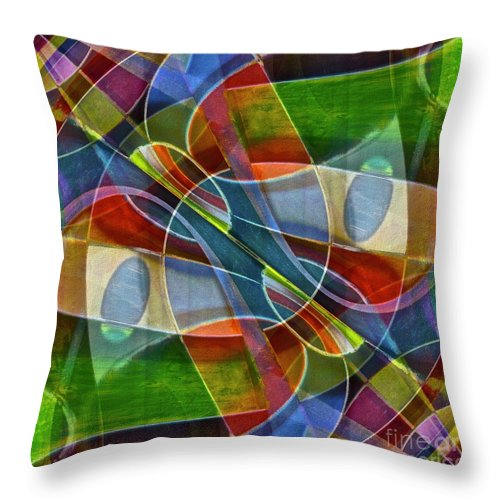 Abstract Throw Pillow featuring the photograph Unchartered by Gwyn Newcombe