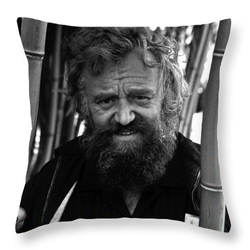 Portrait Throw Pillow featuring the photograph Uncle Will by Lee Santa