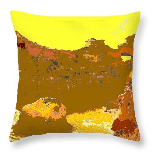 Mediterranean Throw Pillow featuring the photograph Under A Portugese Sun by Ian MacDonald