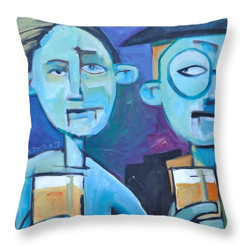 Men Throw Pillow featuring the painting Under Scrutiny by Tim Nyberg