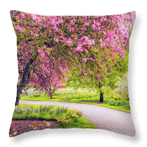 New York Botanical Garden Throw Pillow featuring the photograph Under The Apple Tree by Jessica Jenney