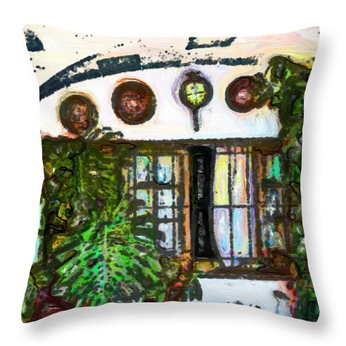 Ebsq Throw Pillow featuring the photograph Under The Arch by Dee Flouton
