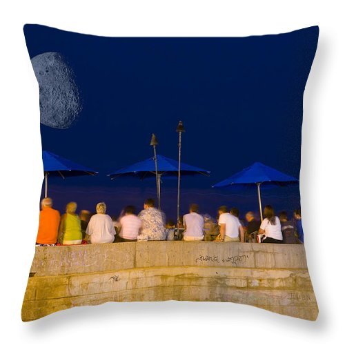 Moon Throw Pillow featuring the photograph Under The Moonlight by Marvin Rivera