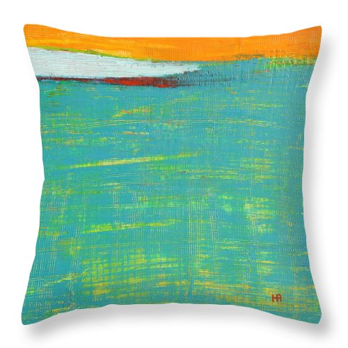 Abstract Throw Pillow featuring the painting Under The Pressure by Habib Ayat