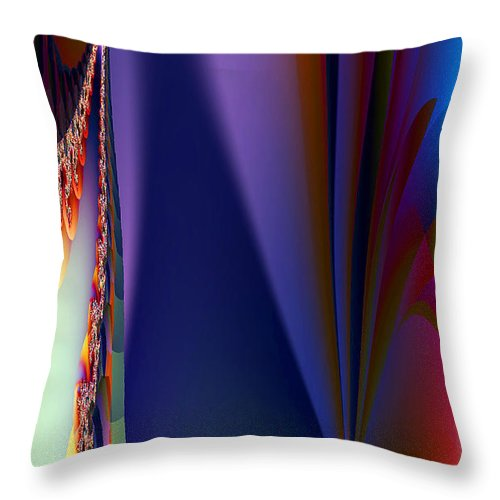 Clay Throw Pillow featuring the digital art Under The Rainbow by Clayton Bruster